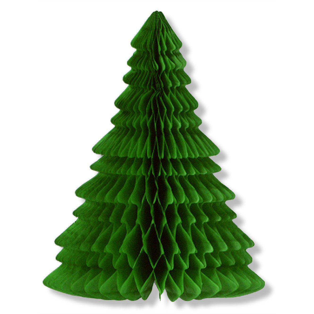 Honeycomb Christmas Tree Decorations Party Wedding Table Centerpiece 10 Inch - GREEN