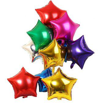 3pcs Star Shape Foil Mylar Balloons 6 Color 18 Inch Pentagram Balloon For Birthday Party Wedding Decoration - GOLD 8PCS