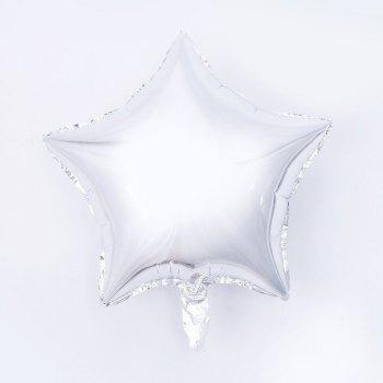 3pcs Star Shape Foil Mylar Balloons 6 Color 18 Inch Pentagram Balloon For Birthday Party Wedding Decoration - SILVER 3PCS