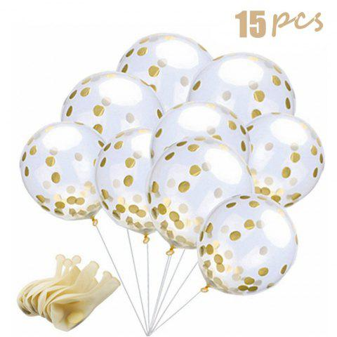 15 Pieces Gold Confetti Balloons 12 Inches Party Balloons with Golden Paper Confetti Dots for Party Decorations Wedding Decorations and Proposal - GOLD 15PCS