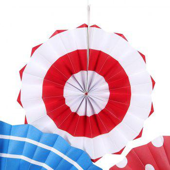 Hanging Paper Fan Decoration Wedding Birthday Christmas Decor Party Events Decor Home Decor Supplies Flavor - multicolorCOLOR 12PCS
