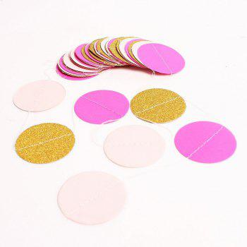 Glitter Paper Circle Garland Dots Hanging Decor Circle Event Party Supplies - AS THE PICTURE 2PCS