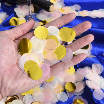 1 Inch Paper Confetti Round Tissue Confetti Party Circle Paper Table Confetti 50g - AS THE PICTURE 50 G