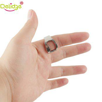 1 Pcs Creative Stainless Steel Beer Openers Finger Ring Ring-Shape Beer Bottle Opener Bar Tools - SILVER