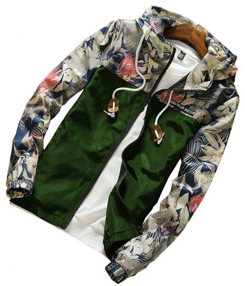 New Men'S Sports Jacket Casual Baseball Jacket - ARMYGREEN M