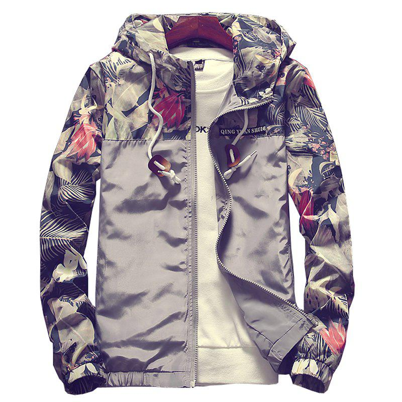 New Men'S Sports Jacket Casual Baseball Jacket - GRAY M