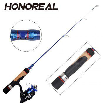 HONOREAL Hicepro Ice Fishing Rod and Reel Combo - BLUE/BLACK