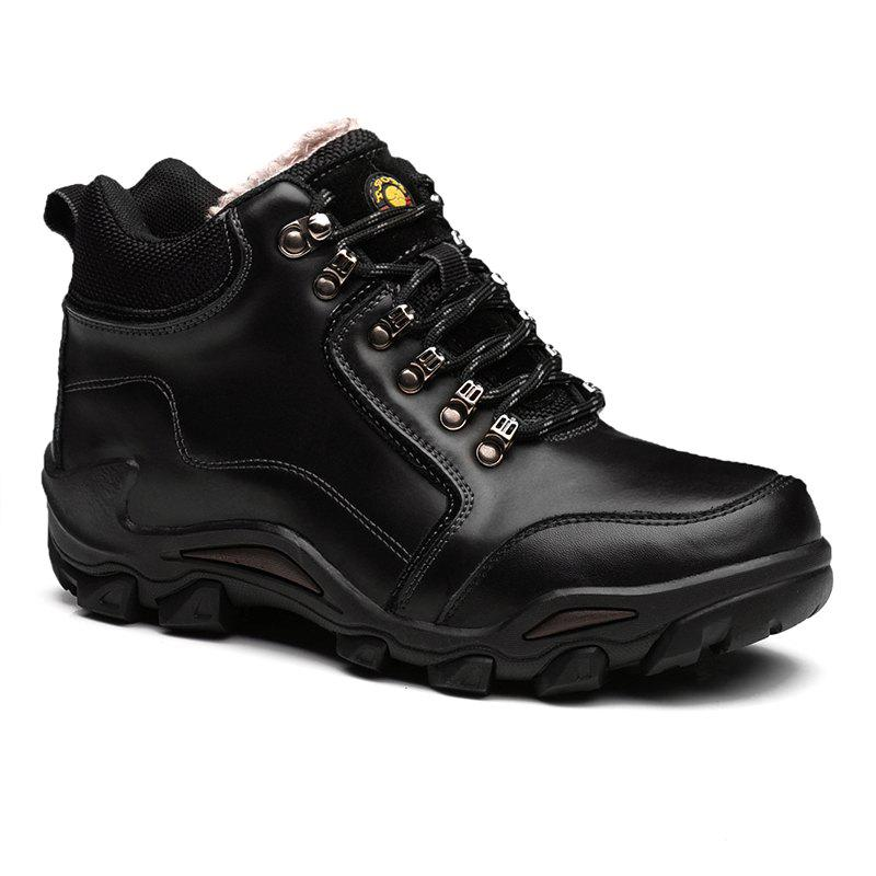 Men Casual Trend for Fashion Outdoor Hiking Flat Climbing Leather Ankle Boots - Black 43 outlet tumblr buy cheap the cheapest discount codes really cheap countdown package cheap price WUonTexLTx