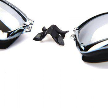 Swimming Goggles with Protective Case Nose Clip and Ear Plugs Mirrored  Clear Anti Fog Waterproof -  BLACK