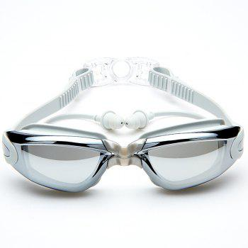 Swimming Goggles with Protective Case Nose Clip and Ear Plugs Mirrored  Clear Anti Fog Waterproof - GRAY GRAY