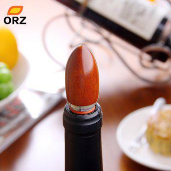 ORZ Wine Stopper Wooden And Stainless Steel Wine Cork Bottle Accessories Kitchen Bar Tools Case Good Gift - SILVER/WOOD 2.5 CM X 2.5 CM X 10.63 CM