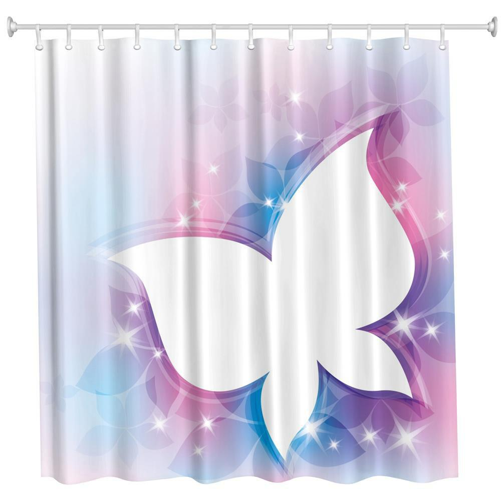 2018 Fancy Butterfly Polyester Shower Curtain Bathroom Curtain High ...