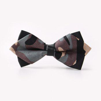 Leather Men'S Printing Bowknot - CAMOUFLAGE CAMOUFLAGE