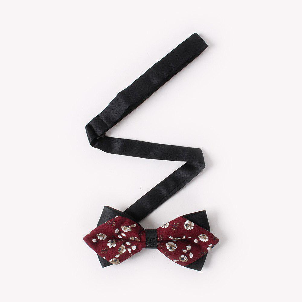 Leather Men'S Printing Bowknot - RED