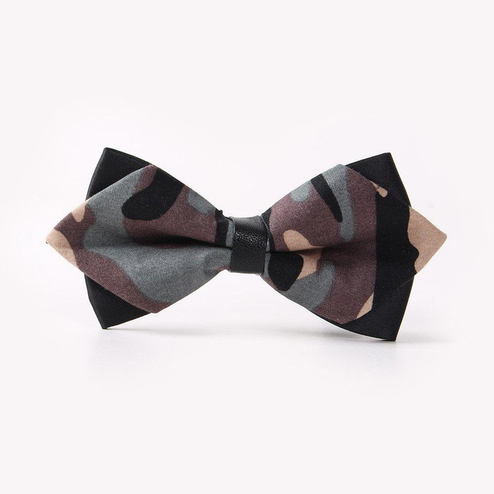 Leather Men'S Printing Bowknot - CAMOUFLAGE