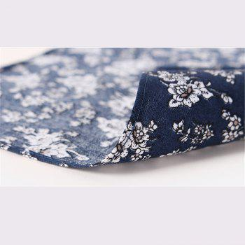 Men'S Printed Handkerchief Floral Pocket Towel - BLUE