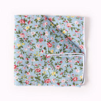 Suit Pocket Napkin Printing Man'S Cotton Handkerchief - CHAMBRAY CHAMBRAY