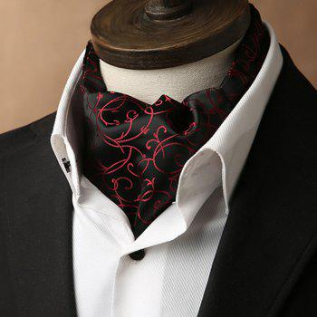Double-Edged Men'S Retro Suit Shirt Neckline Towel - BLACK BLACK