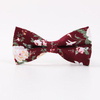 Printed Men'S Leisure Cotton Bow Tie - RED RED