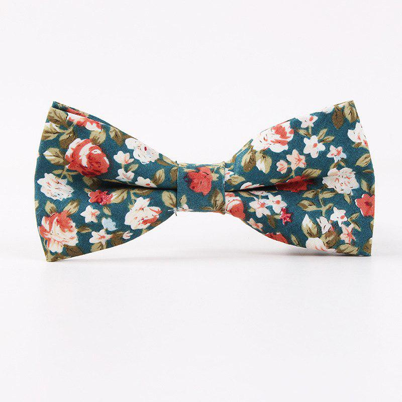 Printed Men'S Leisure Cotton Bow Tie - IVY