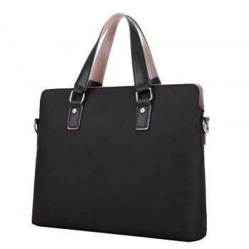 Nouveau sac de messager de sac d'ordinateur portable d'Oxford Version horizontale du porte-documents d'affaires du sac d'homme de voyage - Noir