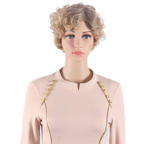 b1895d350 Ombre Dark Root Blonde Curly Short Wavy Style Wigs for Women Heat Resistant Synthetic  Hair Wigs