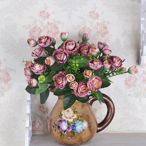 Decorative Artificial Tea Plum Flower Bouquet Home Desk Display - BROWNIE 30CM X 8.5CM