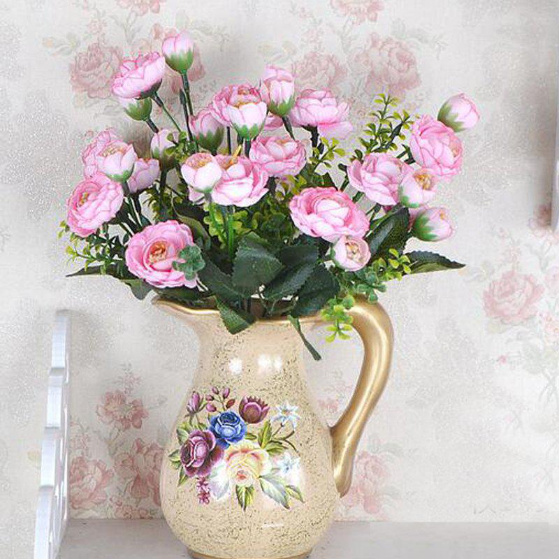 Decorative Artificial Tea Plum Flower Bouquet Home Desk Display - PINK 30CM X 8.5CM