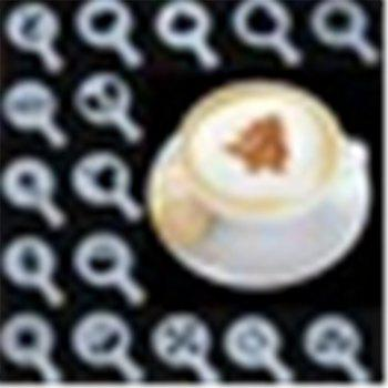 Coffee Pull Flower Mold Coffee Printing Model Powder Pad Latte / Cappuccino 16 with Coffee -  WHITE
