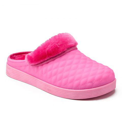438adf6788e Men Winter Home Slippers Cotton Soft Winter Warm Indoor Bedroom Couple Shoes  - PINK 39