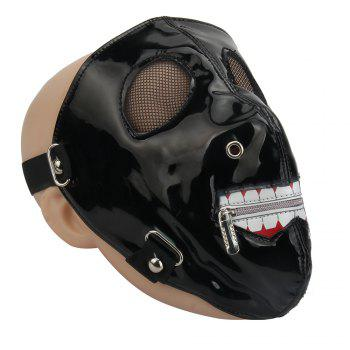 Hot Selling Cortical Punk Skeleton Windproof and Dustproof Personality Locomotive Mask - BLACK