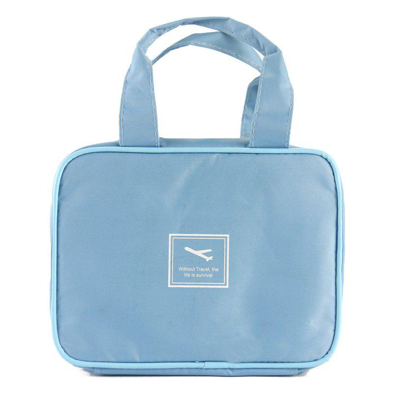 Portable Waterproof Outdoor Traveling Cosmetic Tote Bag - LIGHT BLUE