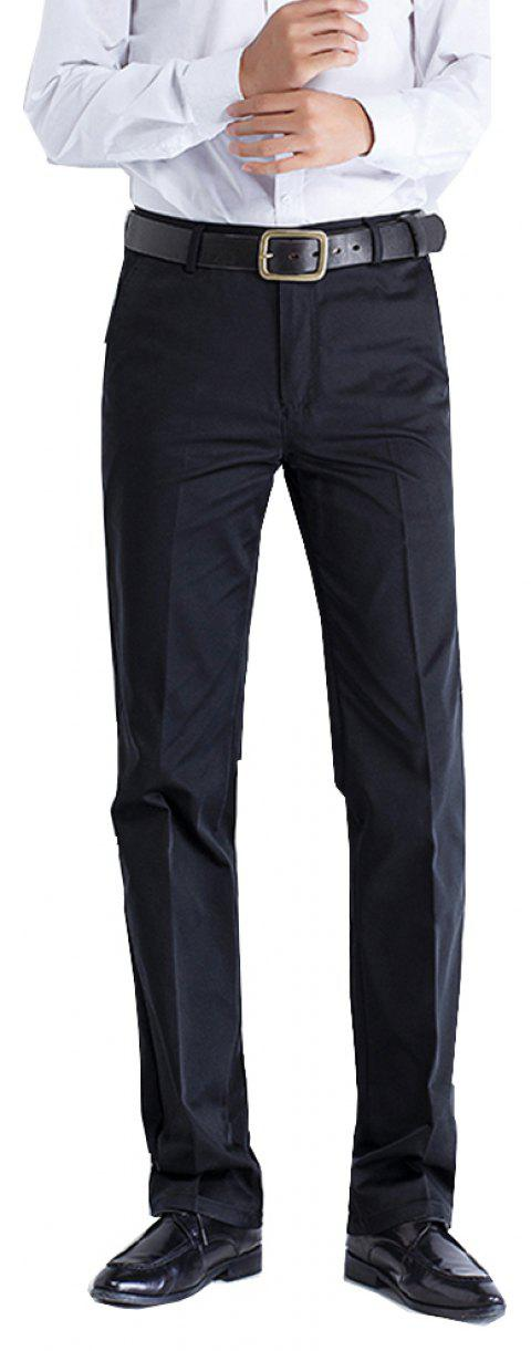 Anti-wrinkle No-iron Business Casual  Pants - BLACK 34