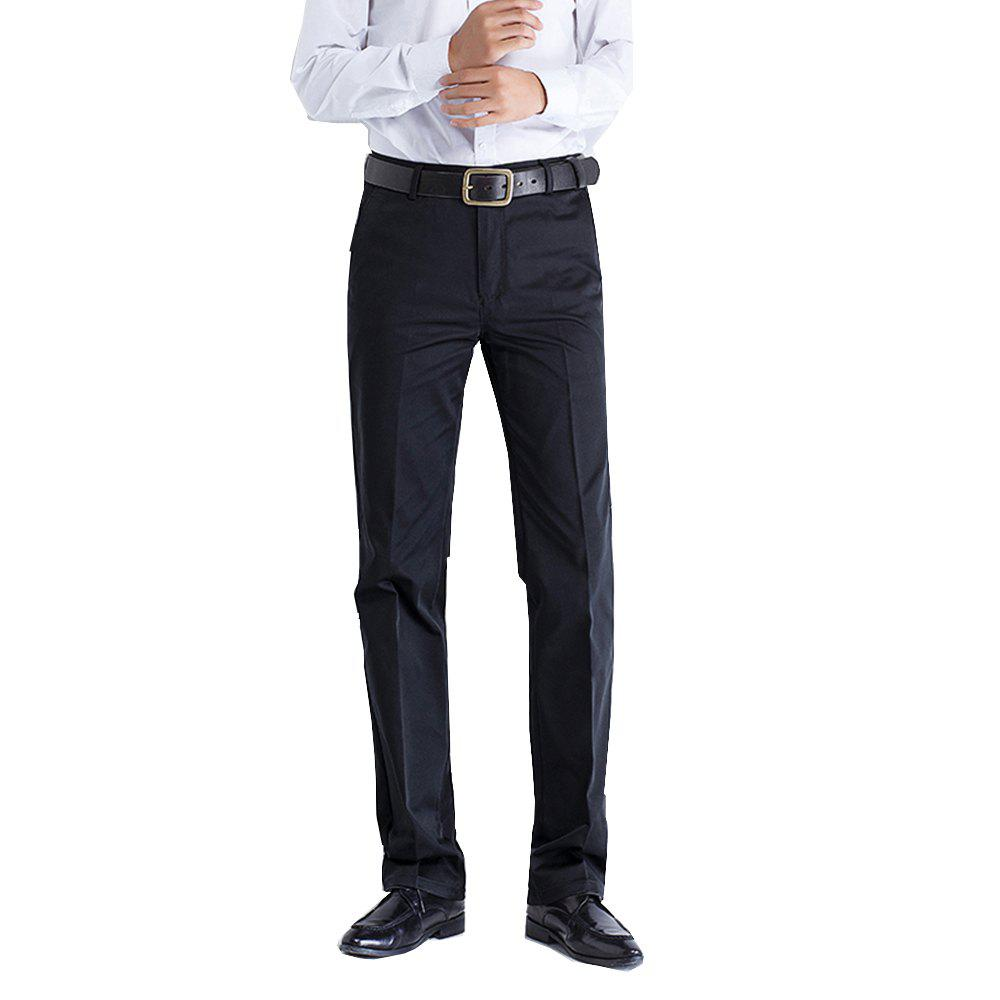 Anti-wrinkle No-iron Business Casual  Pants - BLACK 36