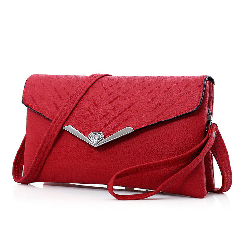 New Soft Leather Shoulder Bag Handbags - RED HORIZONTAL