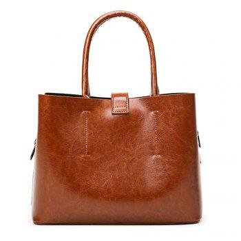 Soft Leather Single Shoulder Bag Handbag - LIGHT BROWN