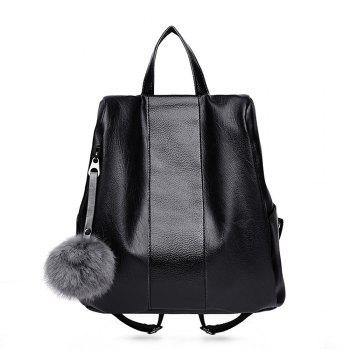 Female New Soft Leather Backpack