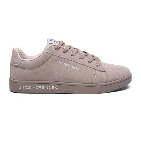 New Spring and Autumn Men'S Fashion Lightweight Casual Shoes - KHAKI 40