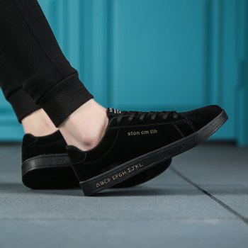New Spring and Autumn Men'S Fashion Lightweight Casual Shoes - BLACK BLACK