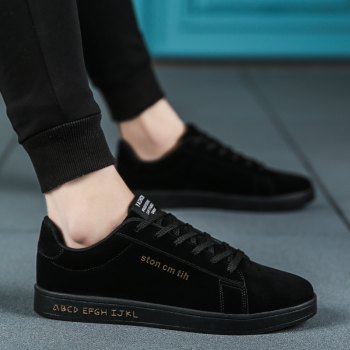 New Spring and Autumn Men'S Fashion Lightweight Casual Shoes - BLACK 42