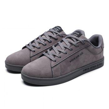 New Spring and Autumn Men'S Fashion Lightweight Casual Shoes - GRAY 43