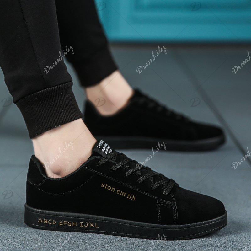 New Spring and Autumn Men'S Fashion Lightweight Casual Shoes - BLACK 39