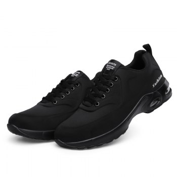 New Men'S Round Head Casual Sports Shoes - BLACK BLACK