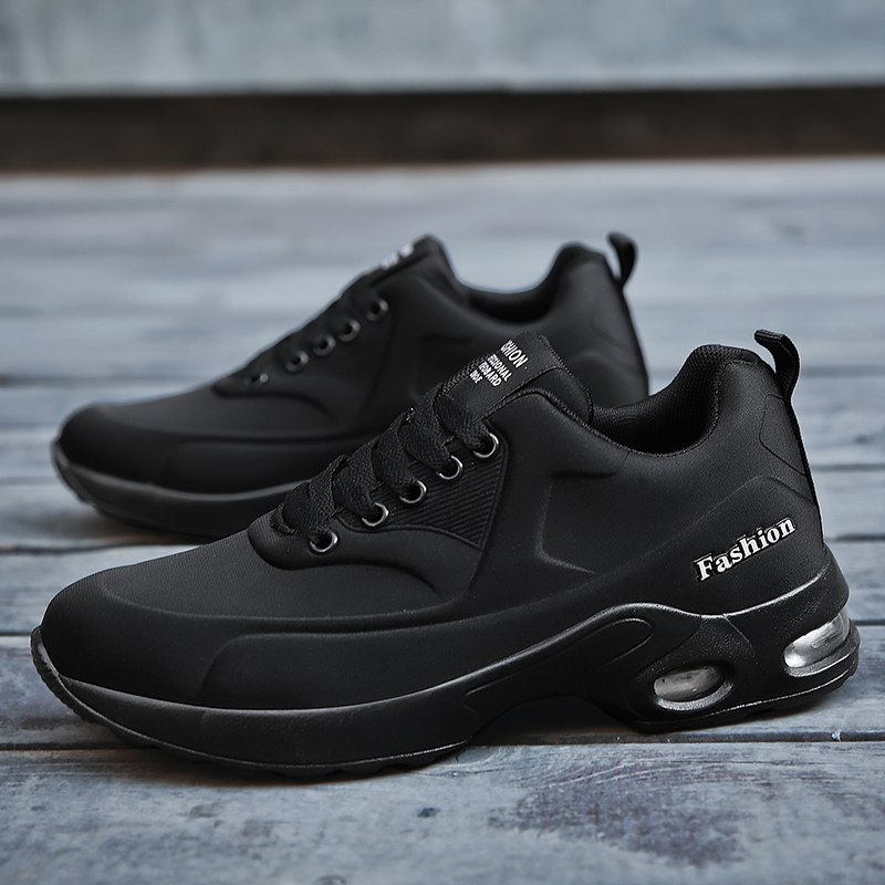 New Men'S Round Head Casual Sports Shoes - BLACK 43