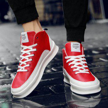 Fashionable Leisure High Barrel Sports Shoes - RED 44