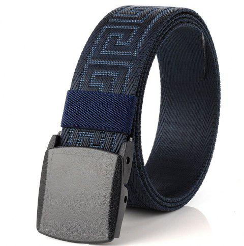 ENNIU Weaving Elastic Tactical Belt Adjustable Durable Nylon Belt - BLUE