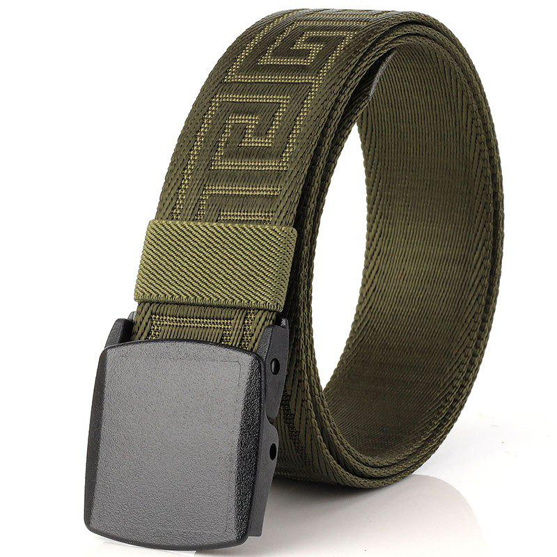 ENNIU Weaving Elastic Tactical Belt Adjustable Durable Nylon Belt - GREEN