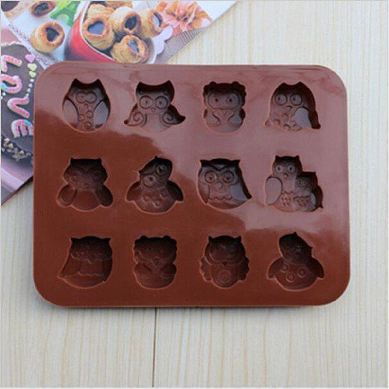 Outstanding 41 Off 2020 1Pc Cute 12 Owl Shape 3D Silicone Cake Mold Fondant Funny Birthday Cards Online Drosicarndamsfinfo