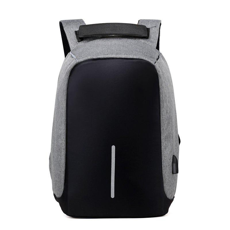 Multi-Functional Backpack Men'S Casual Anti-Theft Computer Backpack Student Waterproof Travel Bag - GRAY