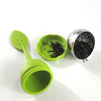 5PCS Silicone Leaf Handle Tea Infuser with Stainless Steel Strainer Filter - multicolorCOLOR